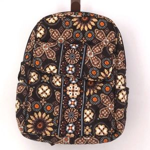 Vera Bradley Small Backpack Canyon Brown Pattern